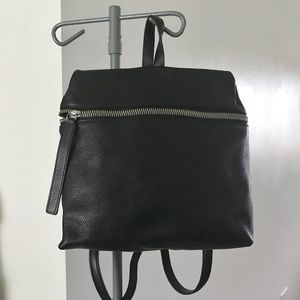New KARA Pebble Leather Large Backpack - Black